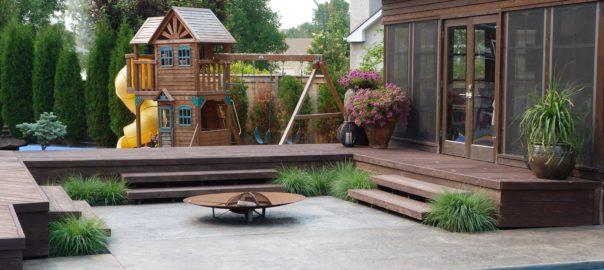 Backyard design 3 seasons landscaping winnipeg for Pool spa show winnipeg